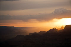 Beautiful sunset at desert view point Royalty Free Stock Image