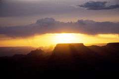 Beautiful sunset at desert view point in the Great Canyon Stock Images