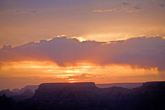 Beautiful sunset at desert view point in the Great Canyon Royalty Free Stock Images