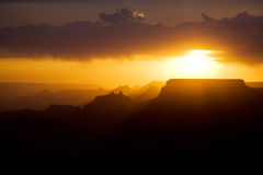 Beautiful sunset at desert view point in the Great Canyon Stock Photo