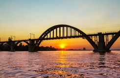 Dniepropetrovsk. Beautiful sunset in Dnepropetrovsk city royalty free stock photography