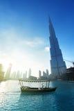 Beautiful sunset in Dubai Stock Photography