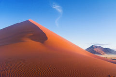 Beautiful sunset dunes and nature of Namib desert, Africa. African landscape, beautiful sunset dunes and nature of Namib desert, Sossusvlei, Namibia, South Stock Photo