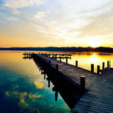 Beautiful Sunset, Dynamic Colours Stock Photos