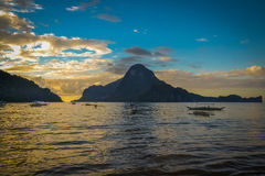 Beautiful sunset in El Nido, Philippines Royalty Free Stock Image