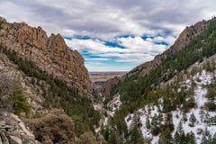 Sunset In Eldorado Canyon State Park stock photos