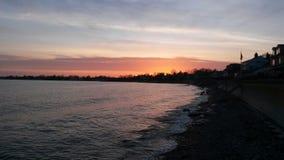 Beautiful Sunset. Evening Sunset on long Island sound Stock Photo