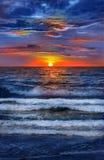 Beautiful sunset at Florida coast. Royalty Free Stock Images