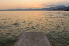 Beautiful sunset at Garda lake, Italy Royalty Free Stock Photo