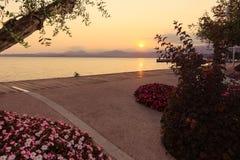 Beautiful sunset at Garda lake, Italy Stock Photography