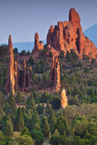 Beautiful Sunset at Garden of the Gods Stock Images