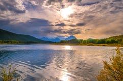 Beautiful Sunset at Grant Tetons Royalty Free Stock Photos