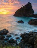 Beautiful Sunset of Great Coral royalty free stock photos