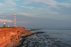 Beautiful sunset at Helgoland, German paradise islands in North stock photos