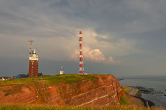 Beautiful sunset at Helgoland, German paradise islands in North stock photo