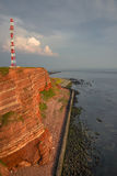 Beautiful sunset at Helgoland, German paradise islands in North stock photography