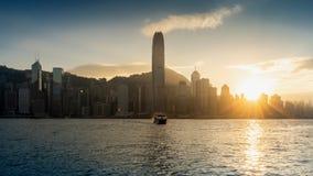 Beautiful sunset at Hong Kong royalty free stock photos