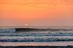 Beautiful sunset in Huanchaco, Peru. Royalty Free Stock Image