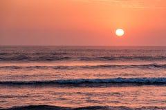 Beautiful sunset in Huanchaco, Peru. Beautiful sunset in Huanchaco, Peru, South America Stock Images