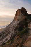Beautiful sunset with huge cliff on atlantic ocean Royalty Free Stock Photo