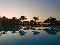 Beautiful sunset in Hurghada royalty free stock photography