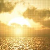 Beautiful sunset illustration Stock Photography