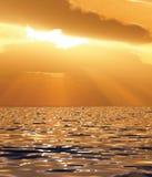 Beautiful sunset illustration Stock Images