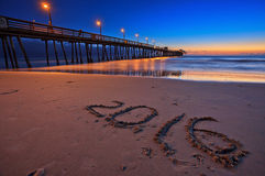 Beautiful Sunset at Imperial Beach Pier, San Diego, California, USA Royalty Free Stock Photo