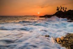 Beautiful sunset on the Indian Ocean Stock Photos