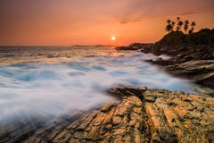 Beautiful sunset on the Indian Ocean Stock Images