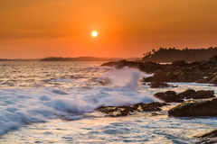 Beautiful sunset on the Indian Ocean Royalty Free Stock Photo