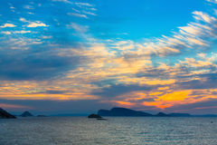 Beautiful sunset among the Islands in the sea. Nature. Royalty Free Stock Photography