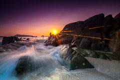 Beautiful sunset at Kalim beach, Phuket, Thailand Royalty Free Stock Photo