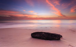 Beautiful sunset at Karon beach in Phuket Stock Photography