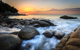 Beautiful sunset at Karon beach in Phuket Stock Photo