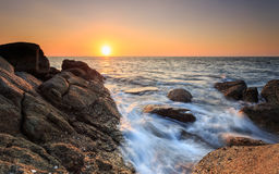 Beautiful sunset at Karon beach in Phuket Stock Photos