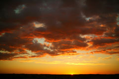 A beautiful sunset in Kenya. Stock Photos