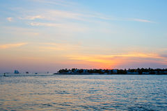Beautiful sunset on Key West, Florida, USA Stock Photos