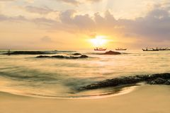 Sunset in Khao Lak Thailand Royalty Free Stock Images