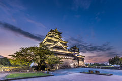Beautiful sunset at Kumamoto Castle in Kyushu, Japan. Beautiful sunset at Kumamoto Castle in Kyushu, Japan stock photo