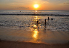 Beautiful sunset in Kuta Royalty Free Stock Image