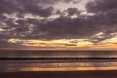 Beautiful sunset in Kuta beach stock photos