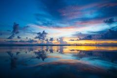 Beautiful sunset at Laem Pakarang khao lak, Phang-nga province T Royalty Free Stock Photos
