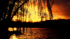 Beautiful  sunset in lagrange indiana Stock Photos
