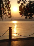 Beautiful sunset lake Royalty Free Stock Photo