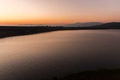 Beautiful sunset on the lake, Chiang Mai Stock Image