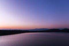 Beautiful sunset on the lake, Chiang Mai Royalty Free Stock Photo