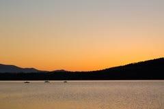 Beautiful sunset by the lake Royalty Free Stock Image
