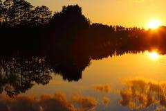 Beautiful sunset on lake Stock Photography
