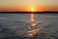 Beautiful Sunset on the Lake Royalty Free Stock Photo